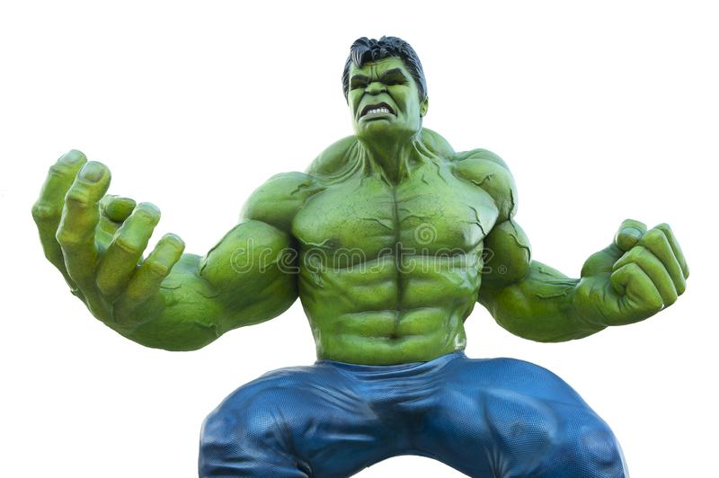 Statue of hulk superhero in disney paris. The image represents the statue of hulk, photographed in disney paris, the superhero was photographed in a spot for a stock photos