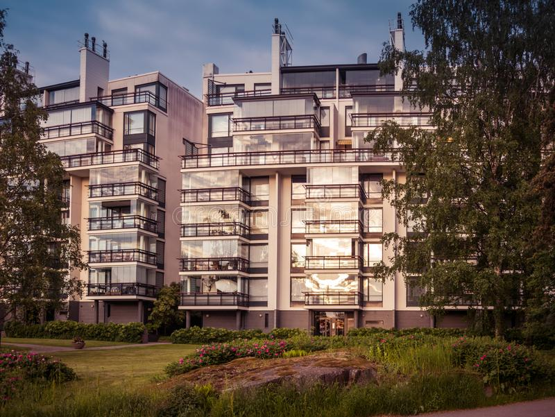 Image of residential apartment building in europe royalty free stock photos