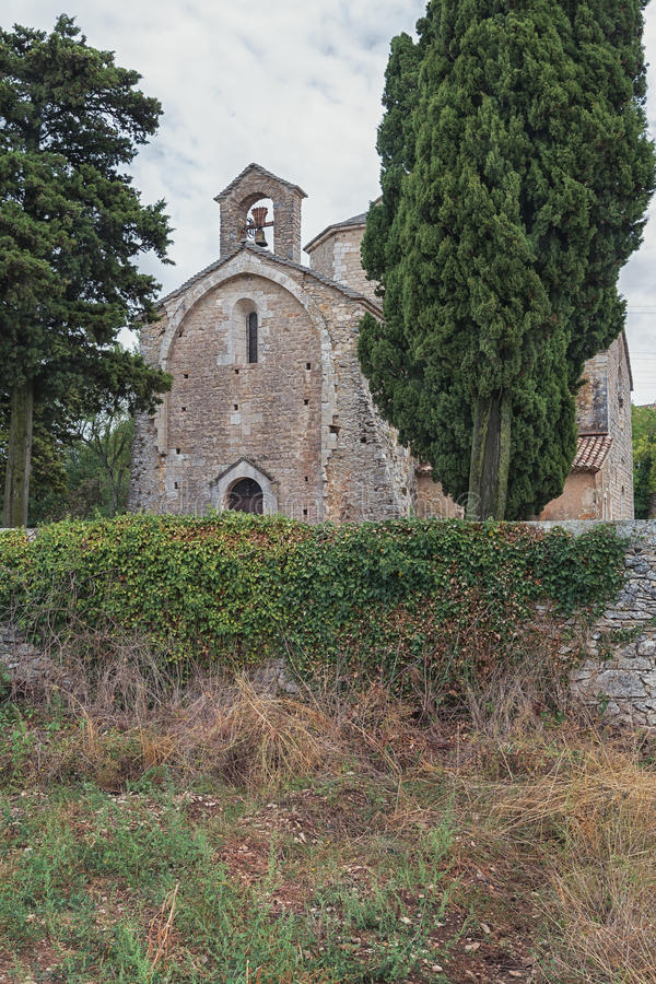 Image of the Romanesque church of Saint Pierre in Larnas stock photo