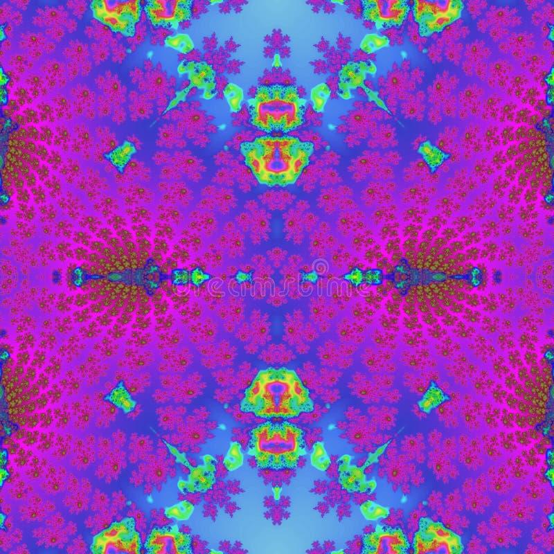 Image rose et bleue étonnante unique abstraite de tuile illustration stock