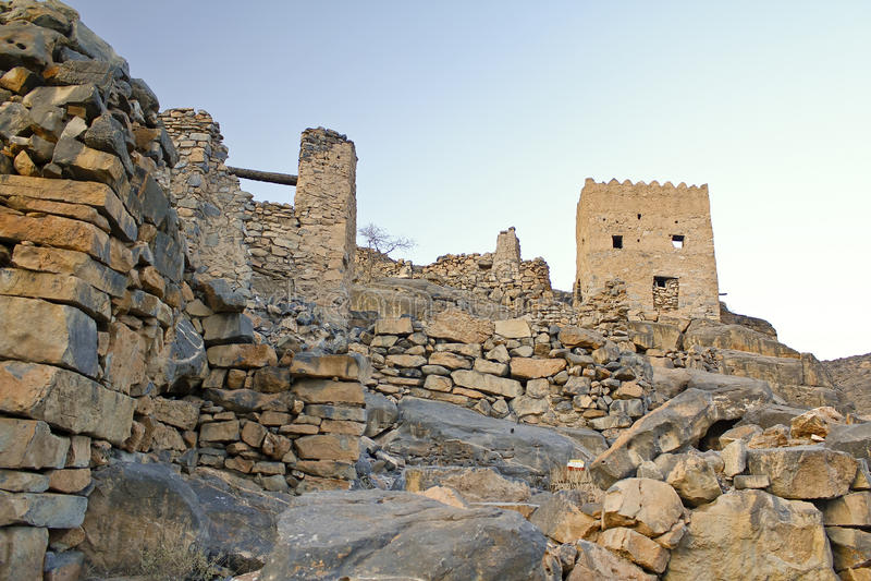Image of ruins on Jebel Akhdar royalty free stock photo