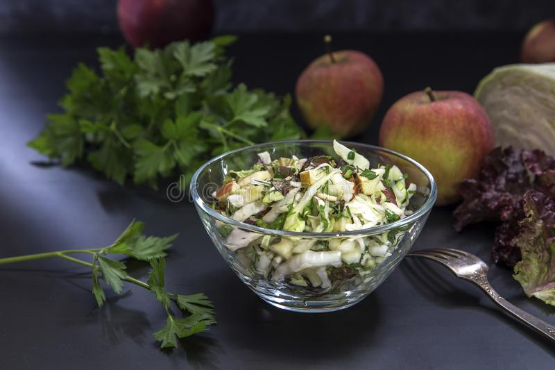 Image with a salad royalty free stock photos