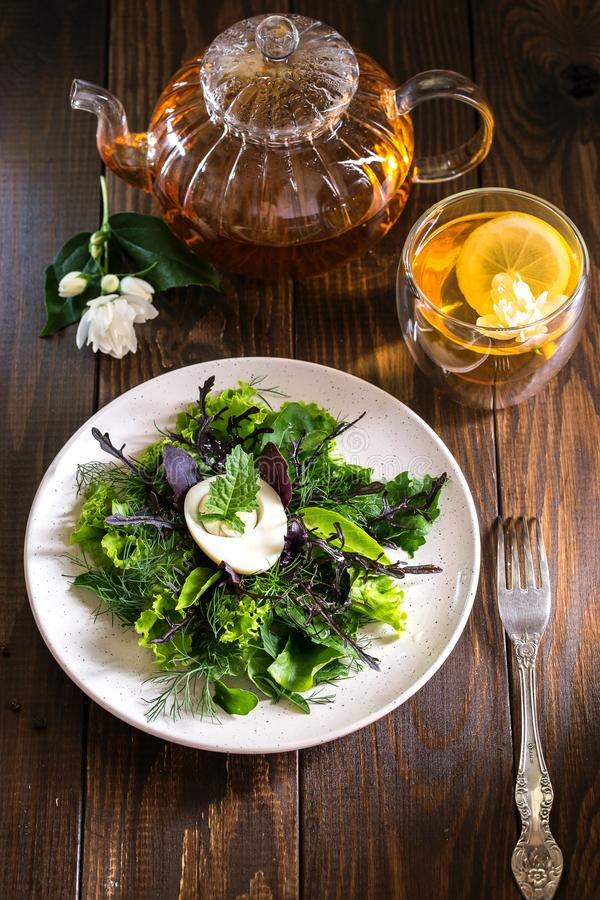 Image with salad. royalty free stock images