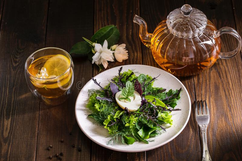 Image with salad. royalty free stock photo