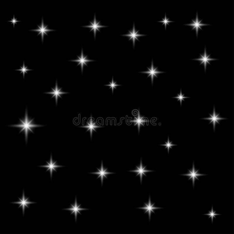 Image sans couture réaliste de vecteur du ciel nocturne avec le starsblack, ciel, fond, papier peint, froid, la poussière, blanc, illustration stock