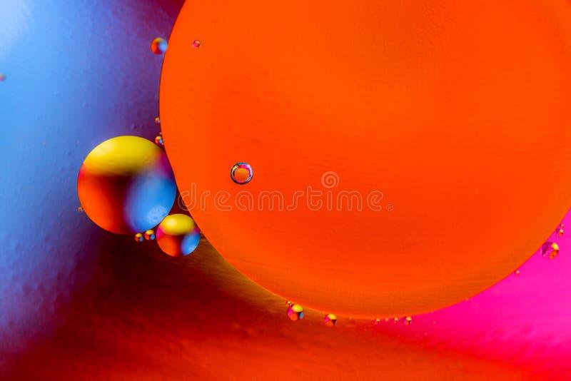 Image scientifique de membrane cellulaire Macro des substances liquides Structure abstraite d'atome de mol?cule Bulles de l'eau M image libre de droits