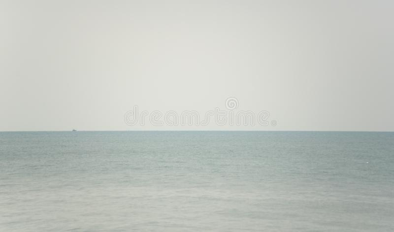 Sea with fog. An image of the sea with fog stock images