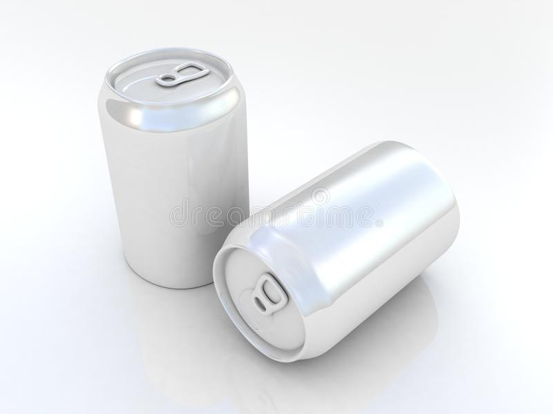 Image sealed aluminum can with a drink vector illustration