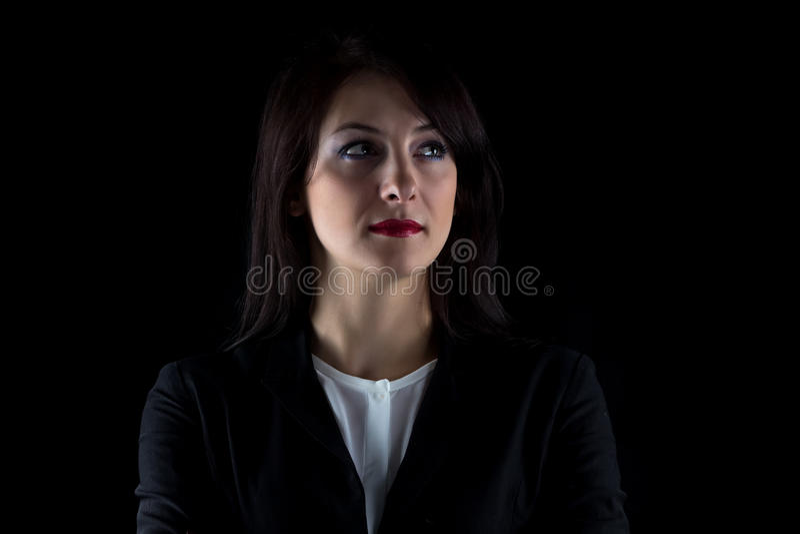 Image semblant la femme partie d'affaires de brune image libre de droits