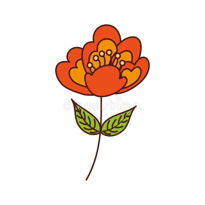 Image sensible de fleur de nature de tige de fleur de cerise illustration de vecteur