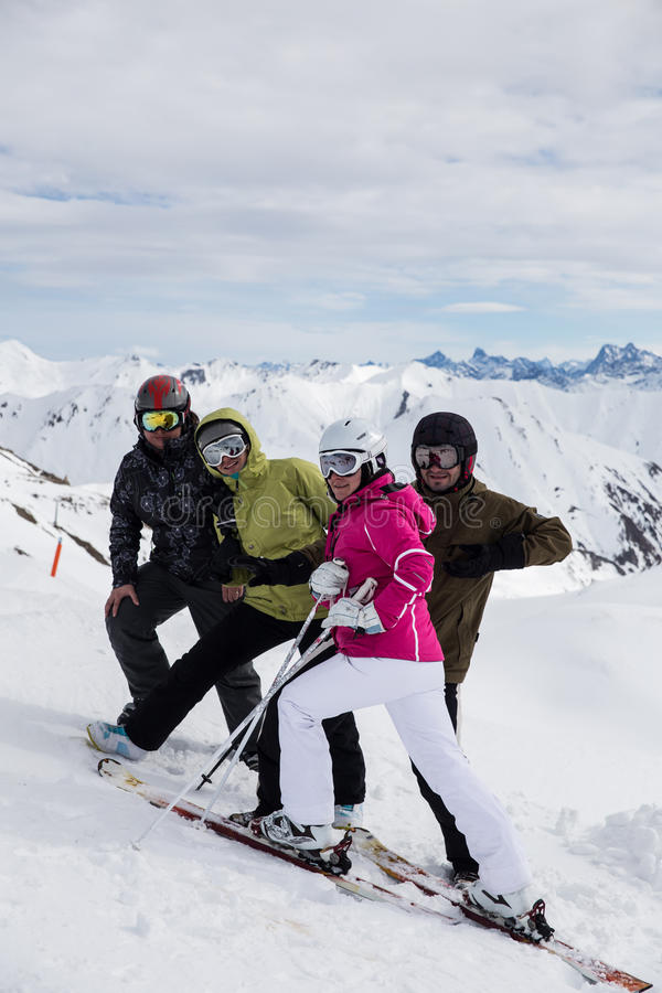 Download Skiers on a break stock image. Image of person, skiing - 30232981