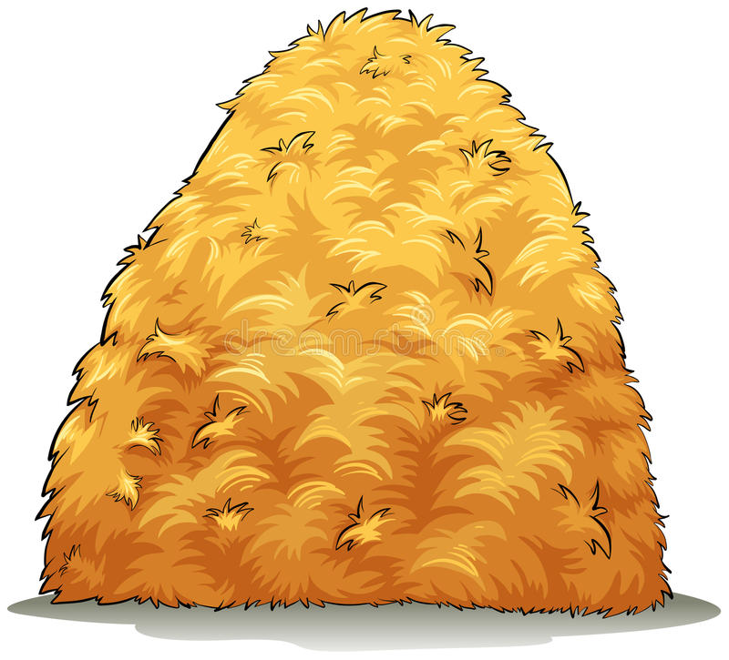 An image showing a haystack. On a white background vector illustration