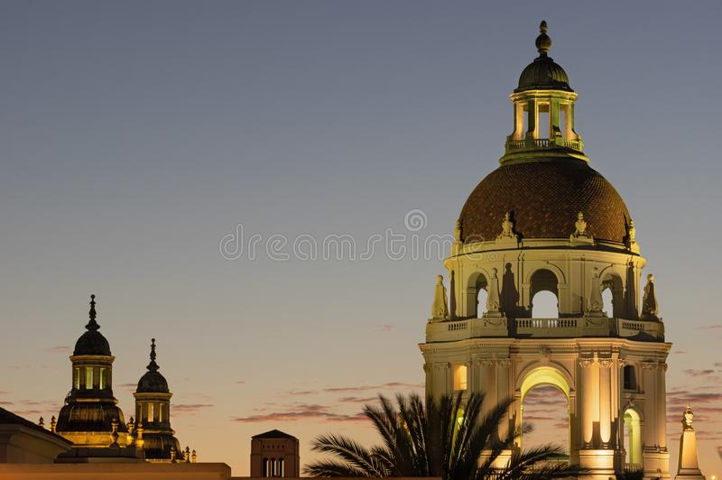 Pasadena City Hall Cupola at Twilight royalty free stock images