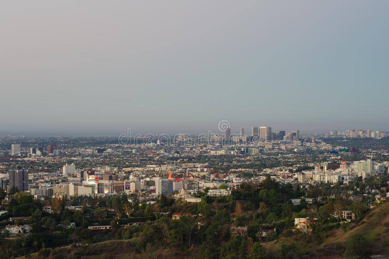 A View of West Hollywood from the Griffth Observatory. stock photos