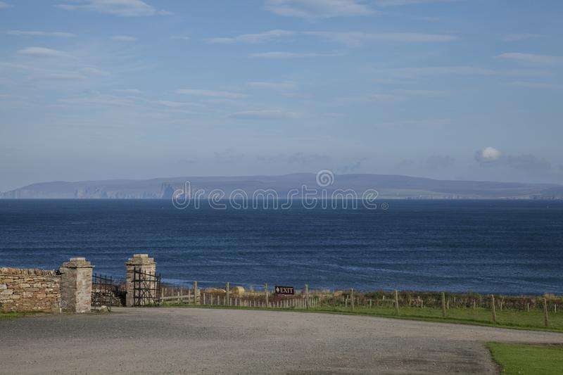 Scotland, the UK, Europe - blue waters of the sea and bright skies. This image shows Scotland, the UK. It was taken on a sunny day in late summer 2016. We can stock photo