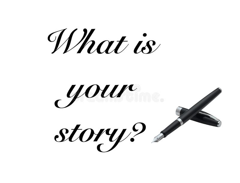 What is your story sign pen royalty free stock photos