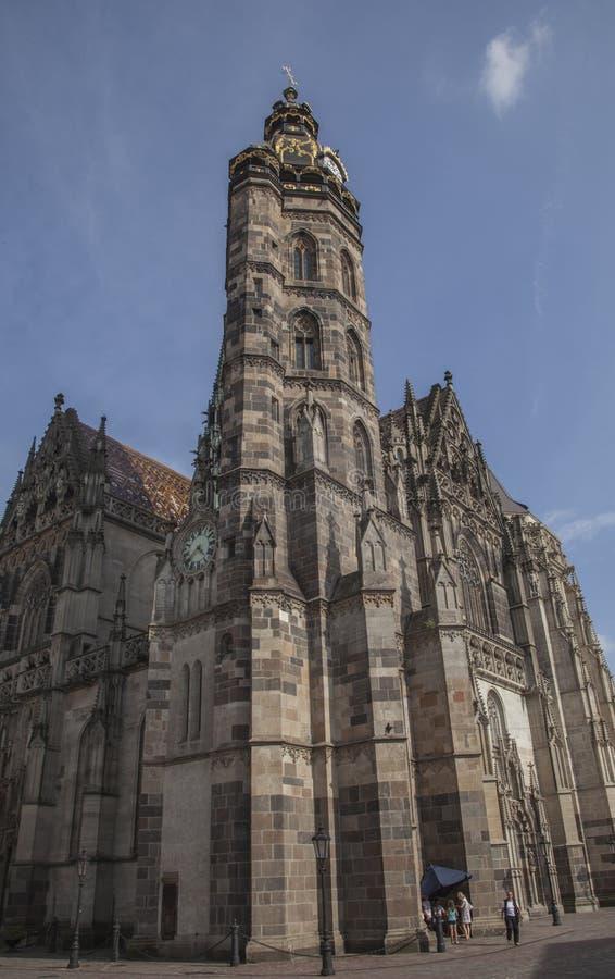 Košice, Slovakia - the architecture; a church. royalty free stock image