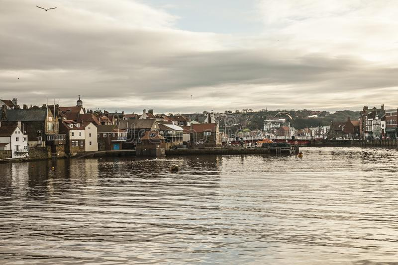 Whitby, Yorkshire, England - evening time. stock images