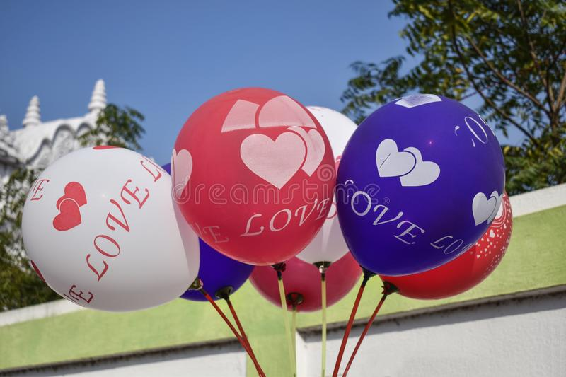 Image of some colorful balloons stock photos