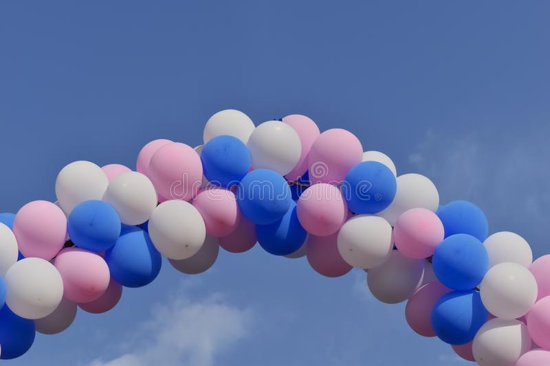 Image of some colorful balloons royalty free stock photos