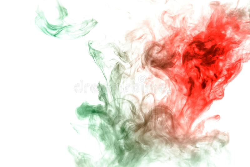 Image of the soul, a spot of wavy smoke of red and green. Print for clothes. Disease and viruses. Abstract image of the soul, a spot of wavy smoke of red and royalty free stock photography