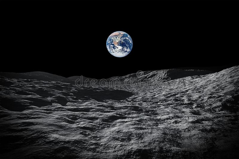 view to our planet earth from moon stock photography