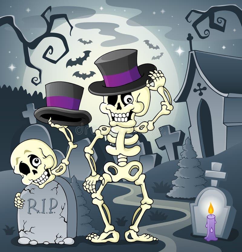 Image squelettique 2 de thème illustration libre de droits