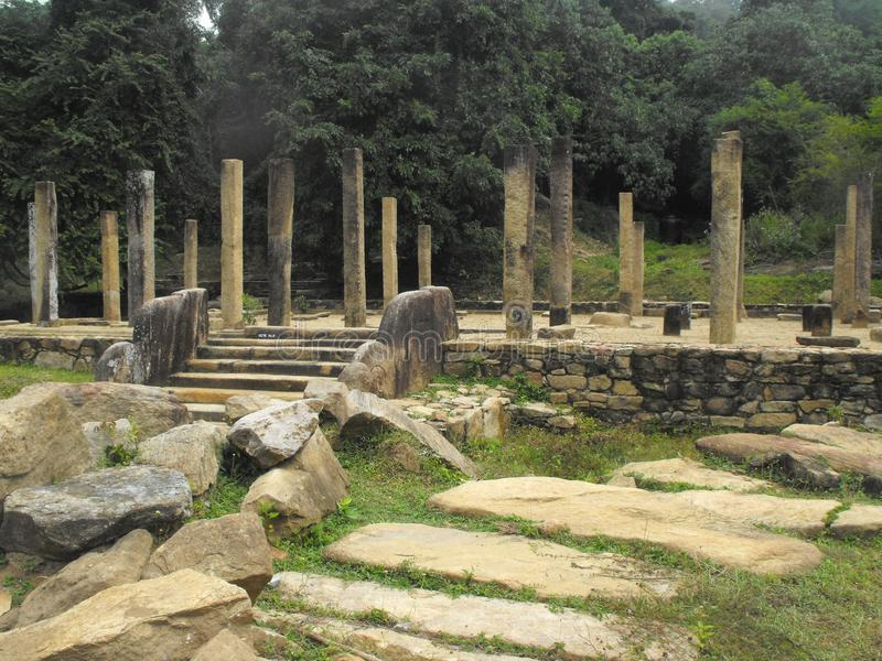 THIS IS IMAGE SRI LANKA BEAUTIFUL PLACE OF AMPARA. RAJAGALA ARCHAEOLOGICAL SITE royalty free stock photos