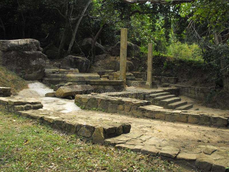 THIS IS IMAGE SRI LANKA BEAUTIFUL PLACE OF AMPARA. RAJAGALA ARCHAEOLOGICAL SITE stock photography