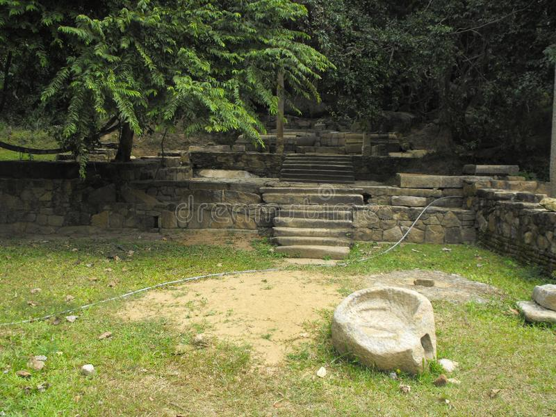 THIS IS IMAGE SRI LANKA BEAUTIFUL PLACE OF AMPARA. RAJAGALA ARCHAEOLOGICAL SITE stock image