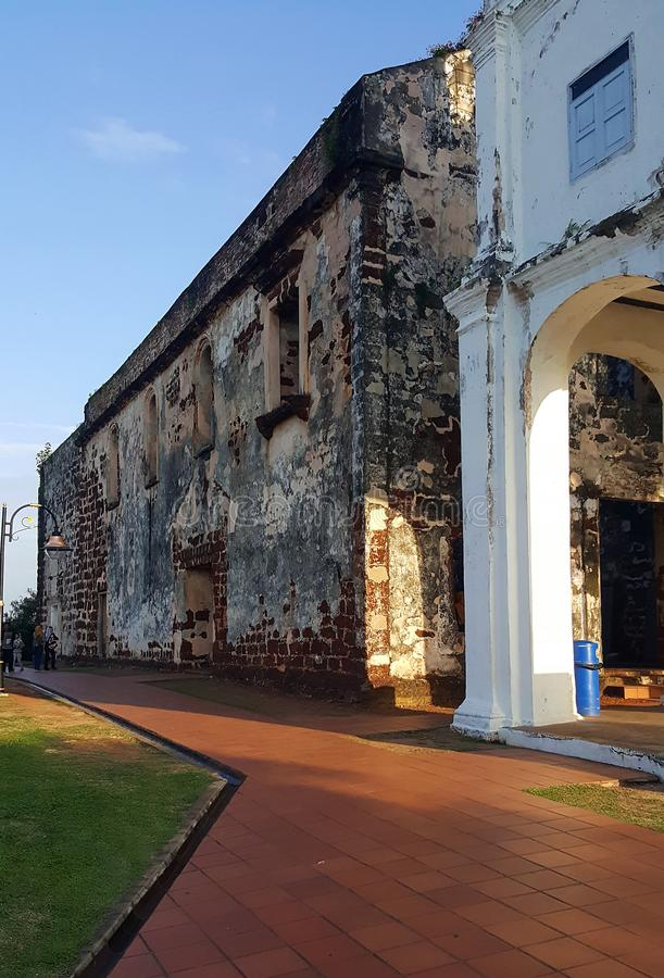 St. Paul hill Malacca. This is an image of St. Paul hill stock images