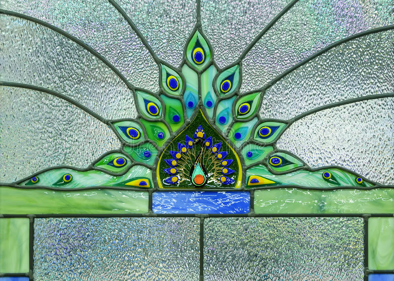 Image of a stained glass window. Close up image of a stained glass window royalty free stock photo