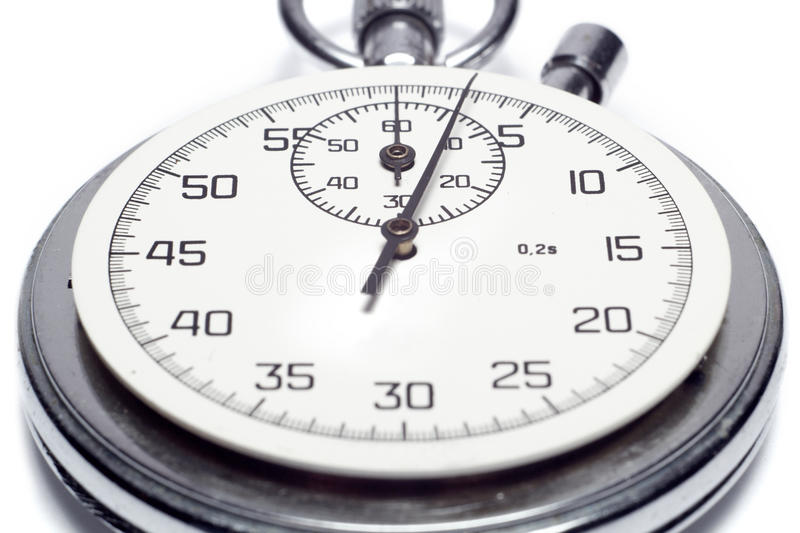 The image of a stop watch counting the seconds royalty free stock photography