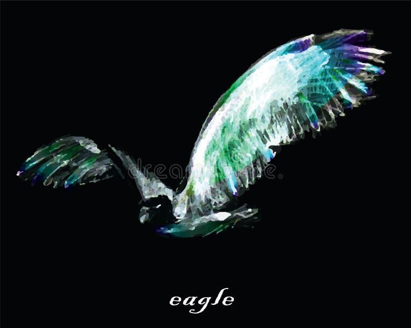 Image stylisée de graphique de vecteur d'aigle illustration stock