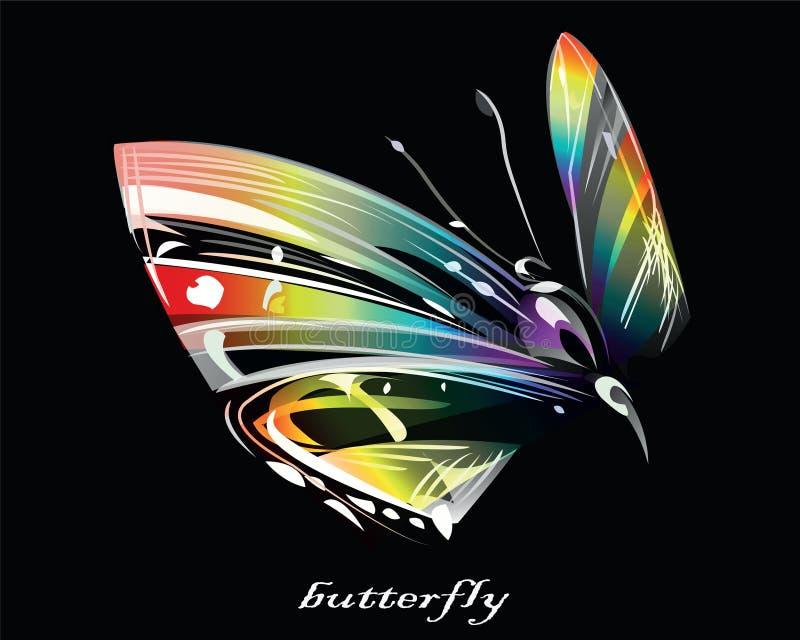 Image stylisée de graphique de vecteur de papillon illustration libre de droits