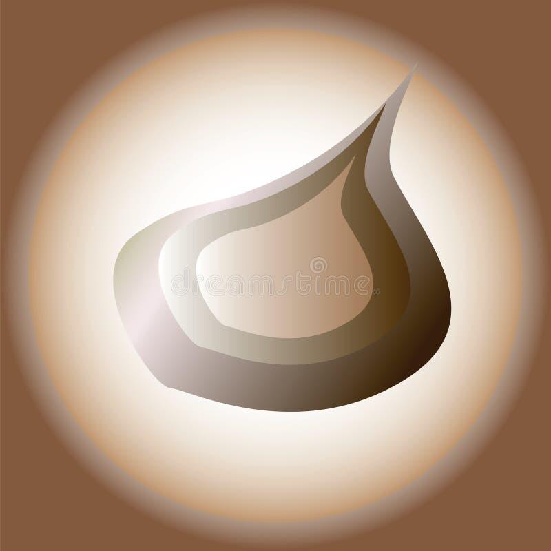 Image stylisée de vecteur d'oignon illustration de vecteur