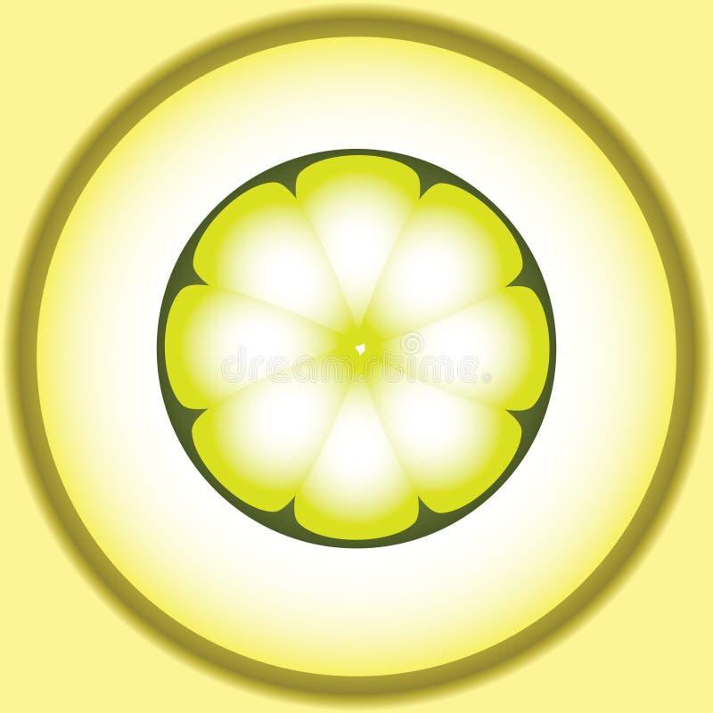 Image stylisée de vecteur de citron illustration libre de droits