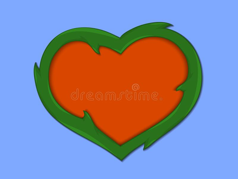 Image stylisée du coeur illustration libre de droits