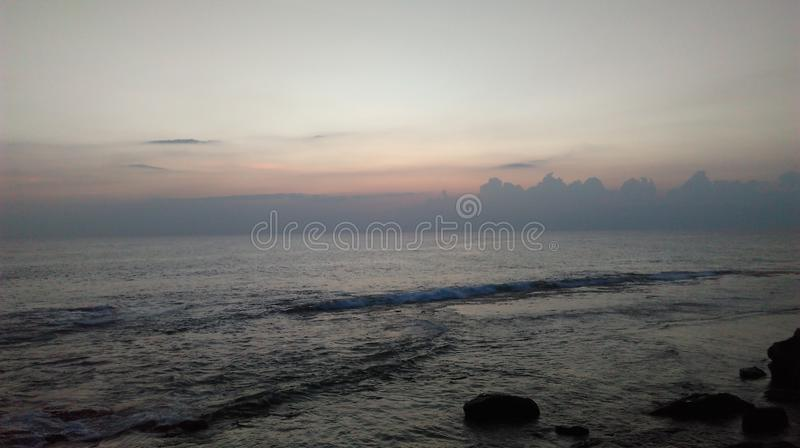 Sunset at galle fort in the evening stock photo
