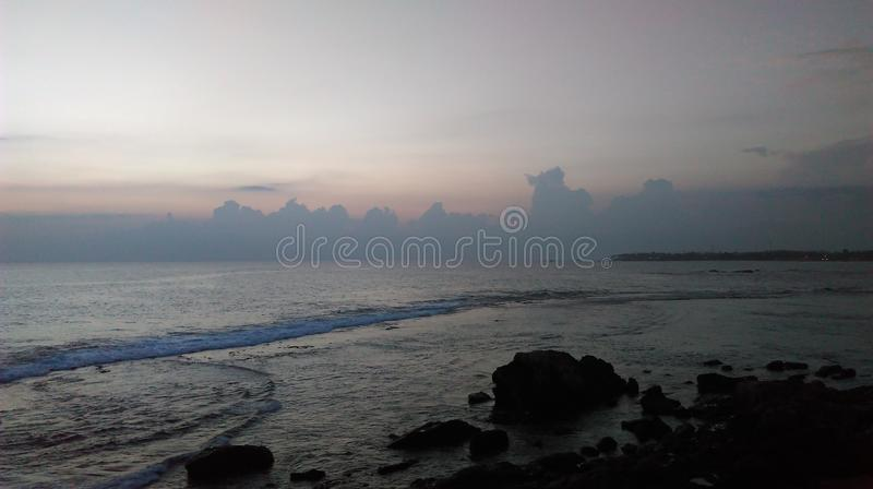 Sunset at galle fort in the evening royalty free stock photo