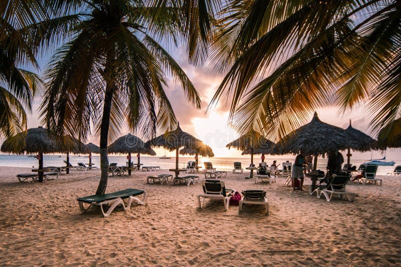 Caribbean Sea at Dawn royalty free stock images