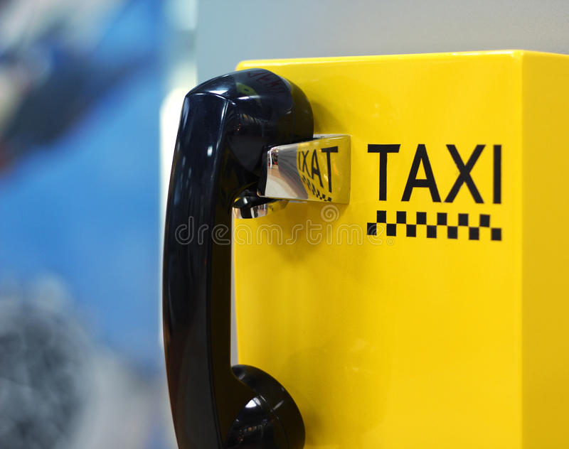 Image of taxi phone in airport royalty free stock images