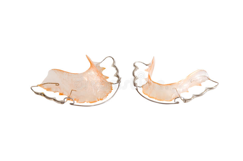 Image of teeth retainer stock photography