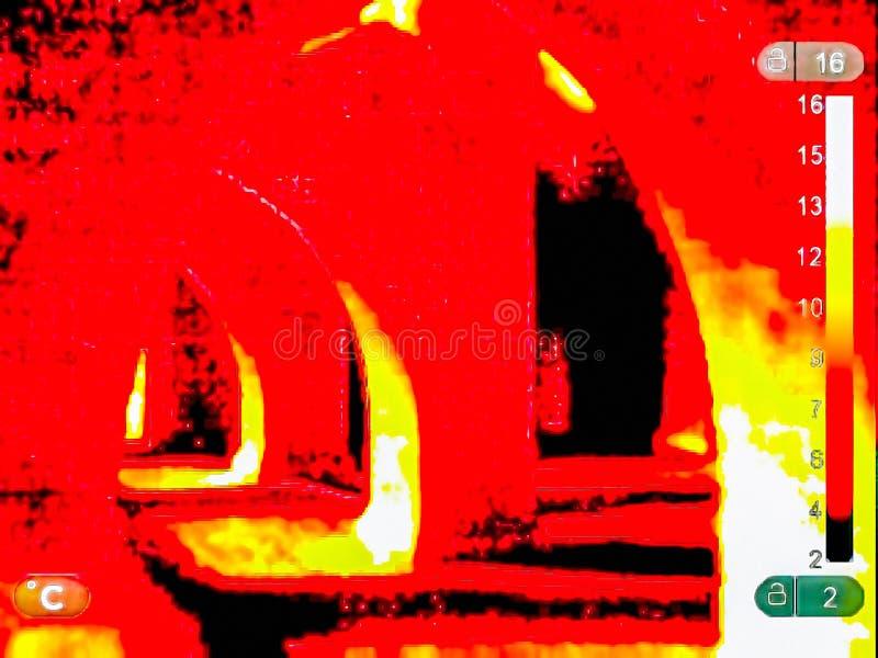 Image thermique des ruines photo libre de droits