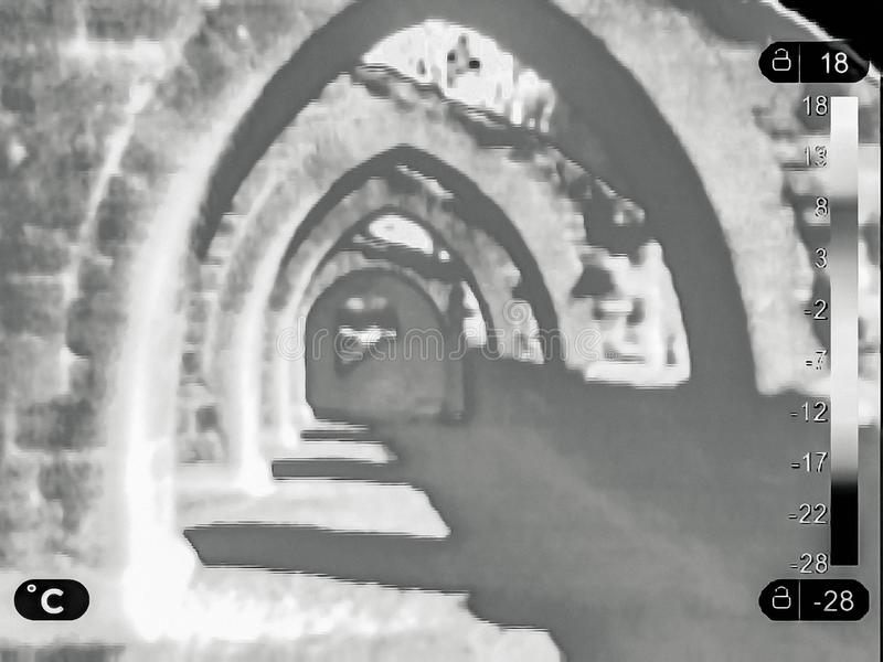 Image thermique des ruines photos libres de droits