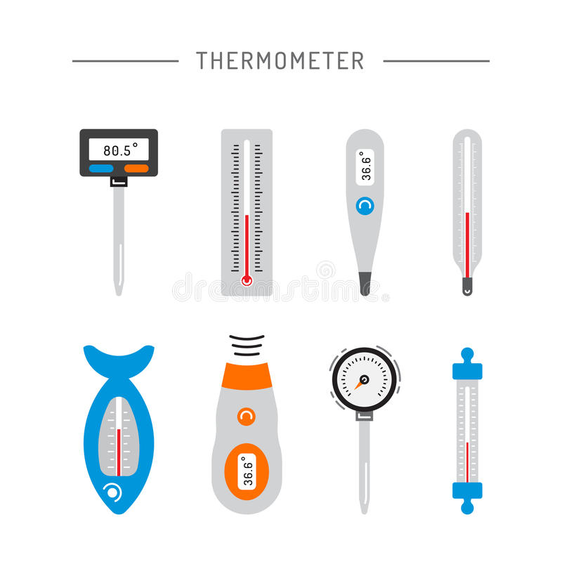 Image thermometer icons stock illustration