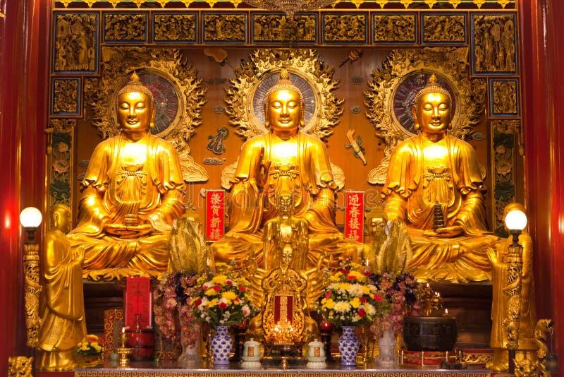Image of three buddha stock photos