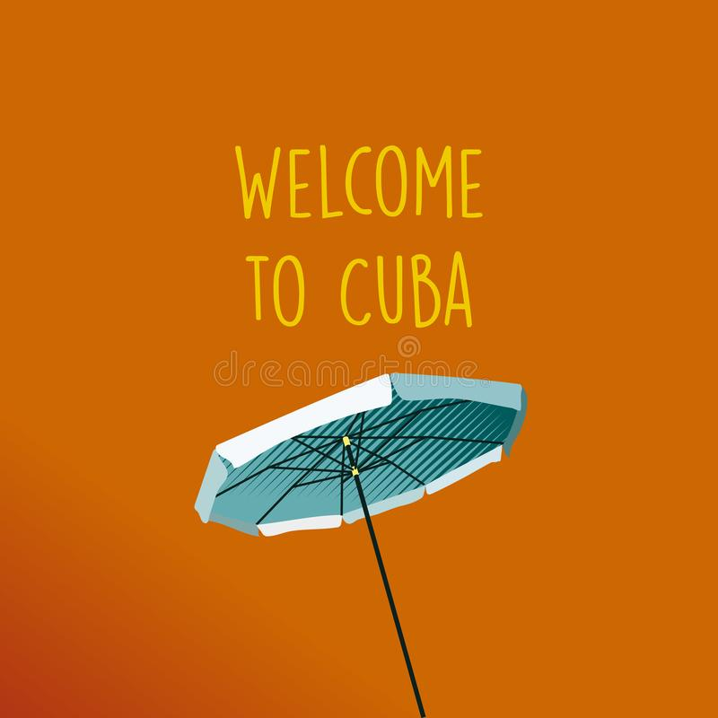 Welcome to Cuba royalty free illustration