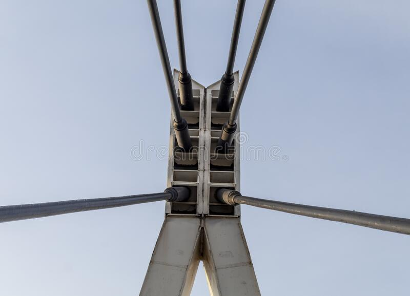 Tower of The Metal Bridge. Image Tower of The Metal Bridge against Blue Sky Background royalty free stock photography