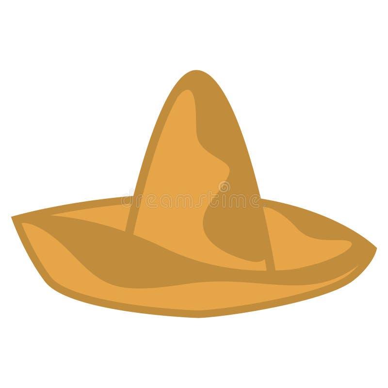 Image traditionnelle d'isolement de chapeau mexicain illustration libre de droits
